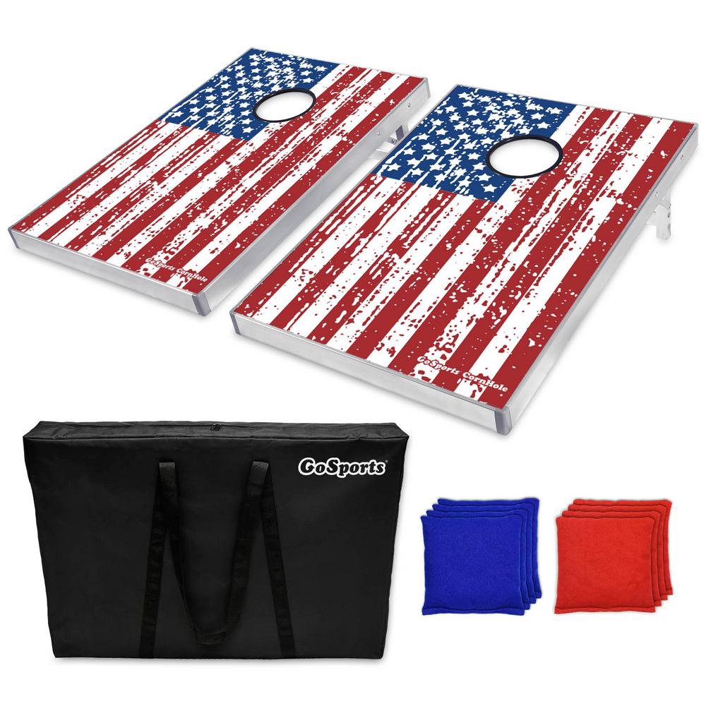 3 ft. x 2 ft. American Flag Edition Cornhole Bean Bag