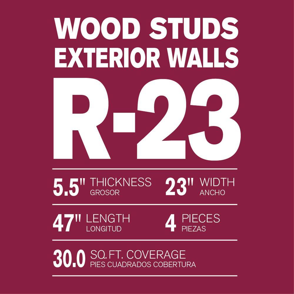 R-23 Thermafiber UltraBatt Unfaced Mineral Wool Insulation Batt 23in. x 47in. (16-Bags)