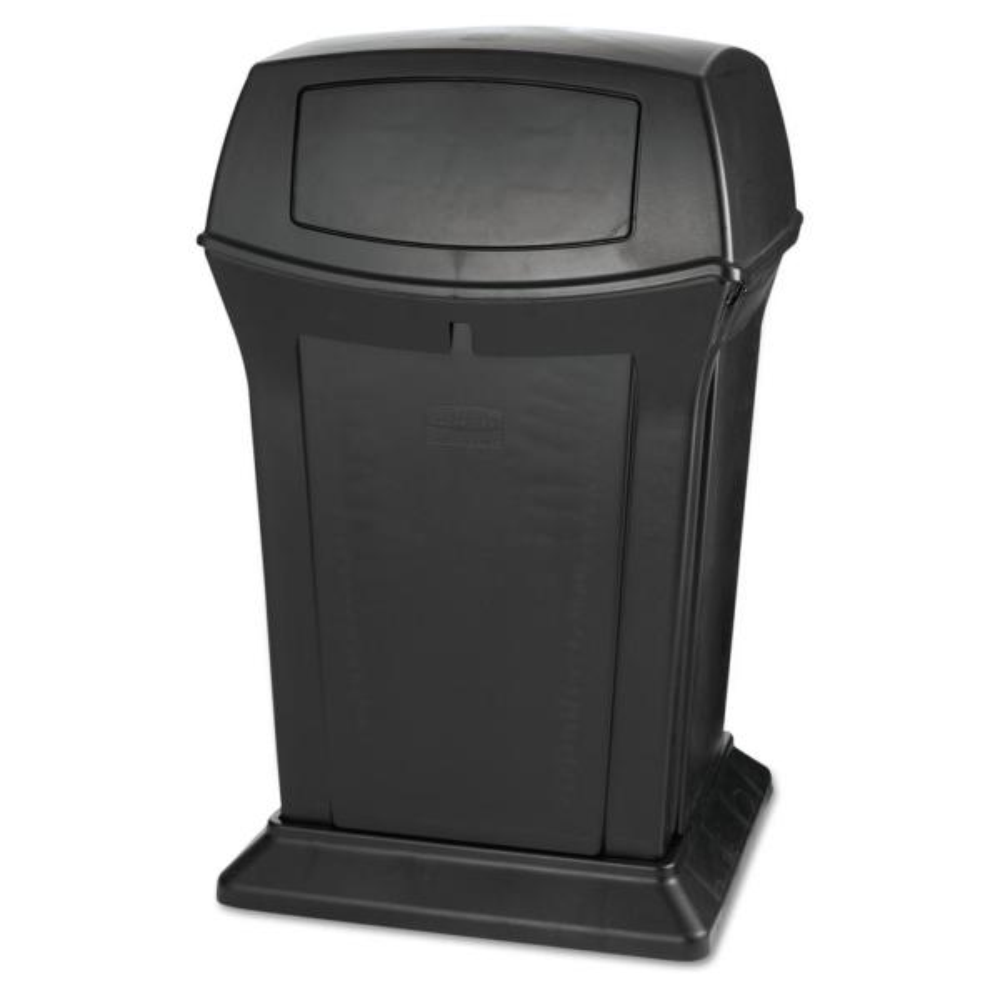 Ranger 45 Gal. Black 2-Door Trash Can