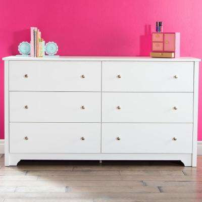 Vito 6-Drawer Pure White Dresser