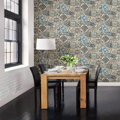 Teal Marrakesh Tiles Mosaic Wallpaper