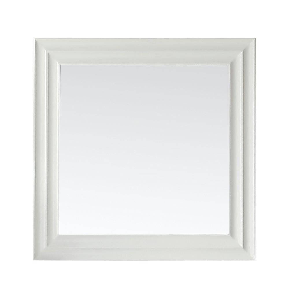 Parker 28 in. x 28 in. Framed Wall Mirror in White