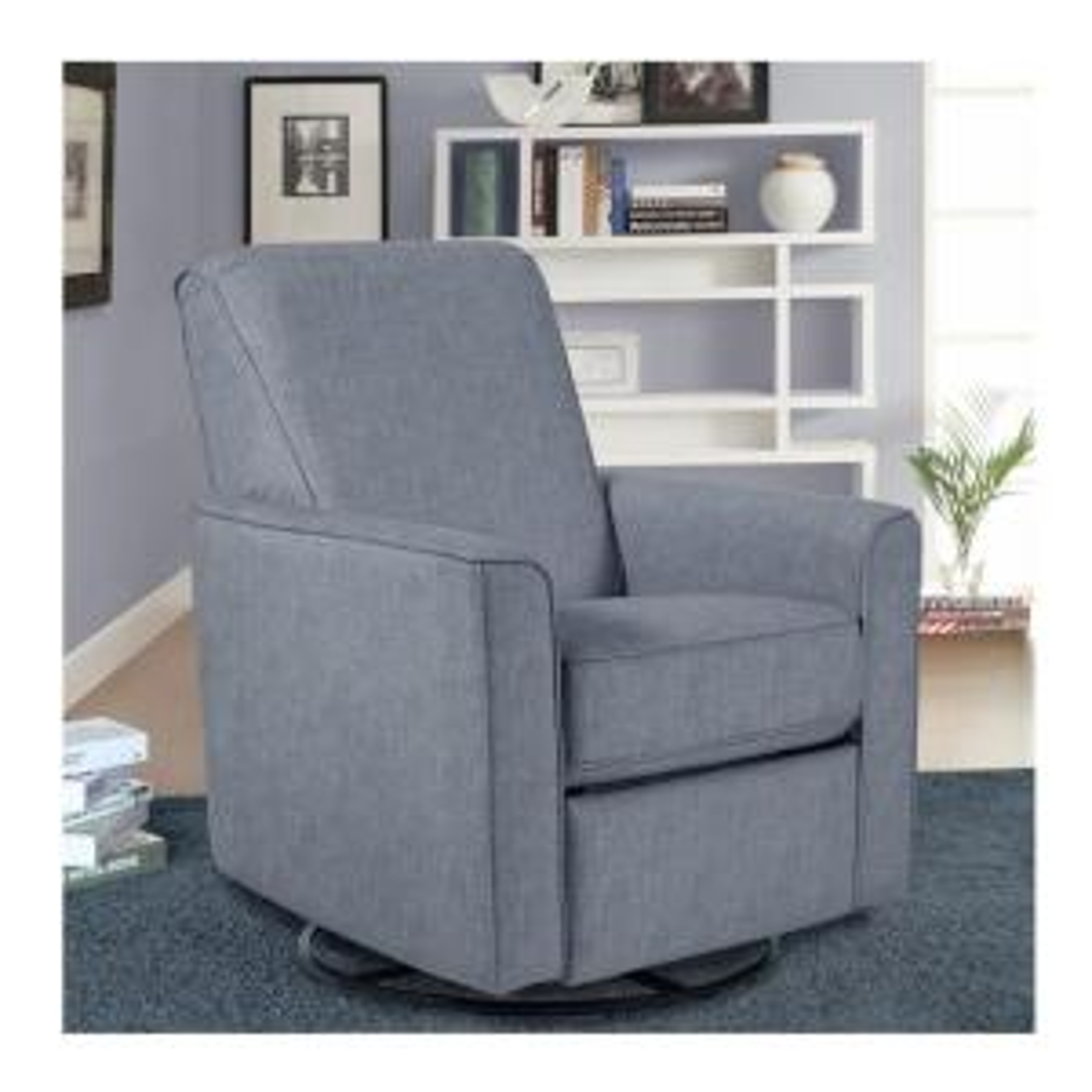 Superb Pri Harmony Carlton Dove Gray Fabric Swivel Glider Recliner Bralicious Painted Fabric Chair Ideas Braliciousco
