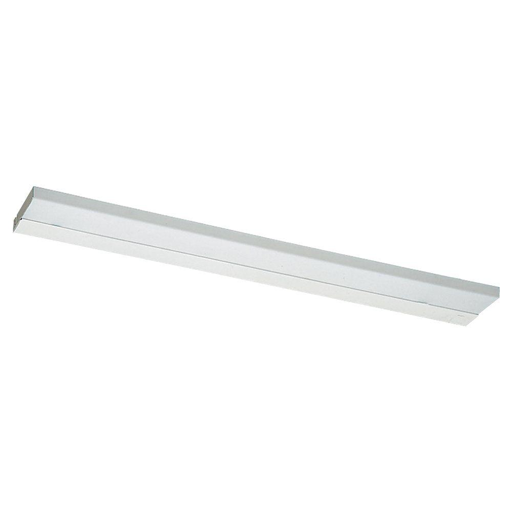 Sea Gull Lighting Ambiance 2-Light White Self Contained Fluorescent Bath Light