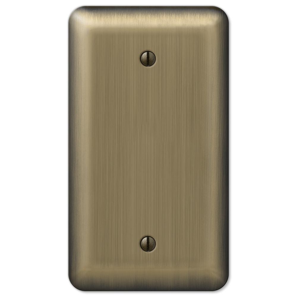 Brass 1-Gang Blank Plate Wall Plate (1-Pack)