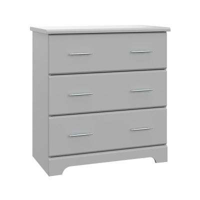 Brookside 3-Drawer Pebble Gray Chest