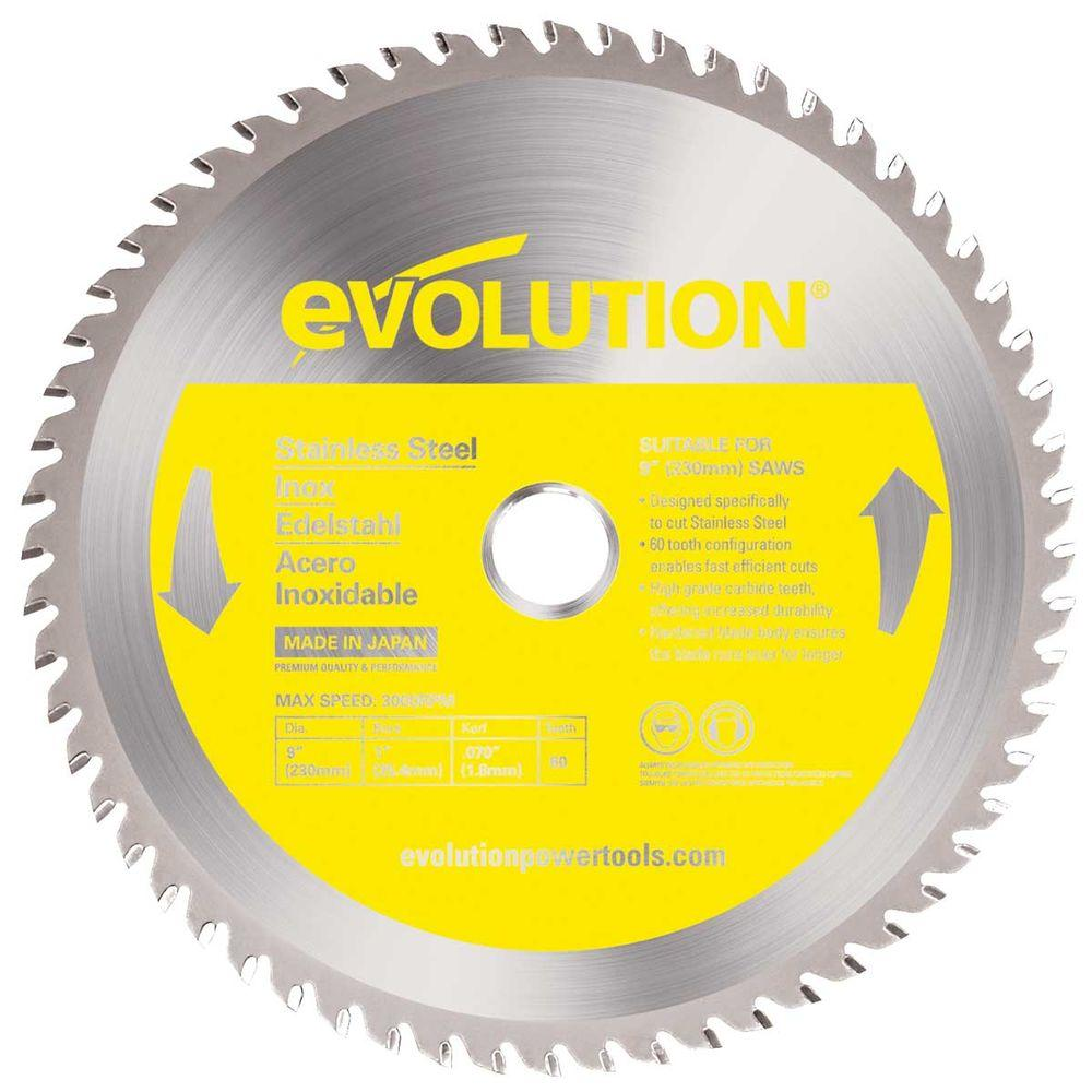 Evolution Power Tools 9 In 60 Teeth Stainless Steel