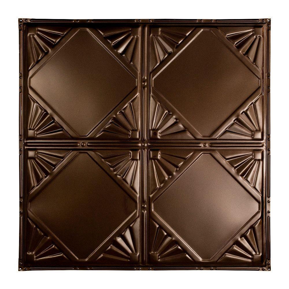 Erie 2 ft. x 2 ft. Nail-up Tin Ceiling Tile in Bronze Burst