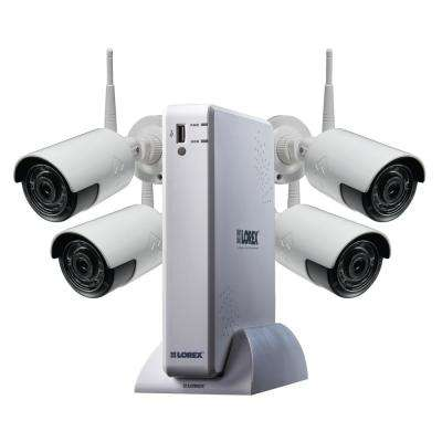 4-Channel 1080p High Definition 1TB HDD Surveillance DVR System 41080p HD Indoor/Outdoor Wireless Cameras and Remote