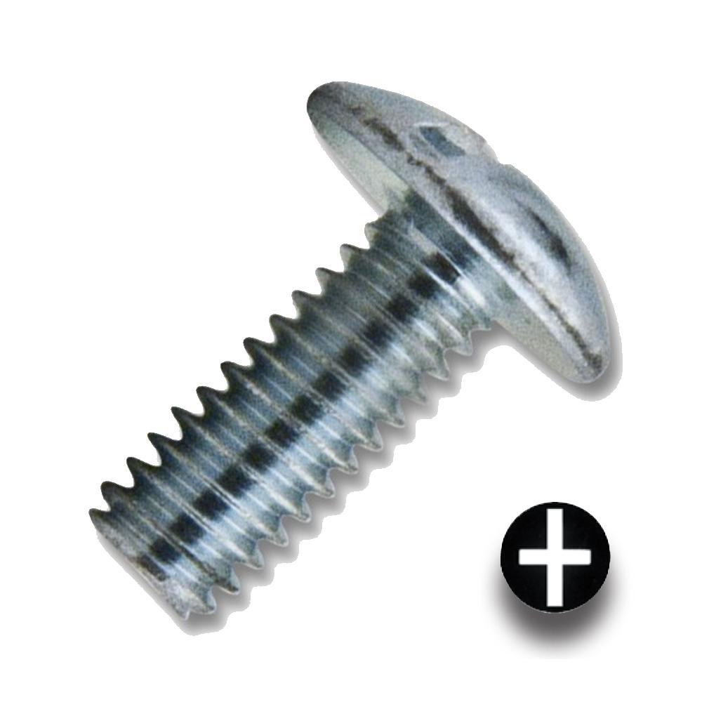 #8-32 x 1/2 in. Zinc Combo Drive Truss Head Machine Thread (1000 per Box)