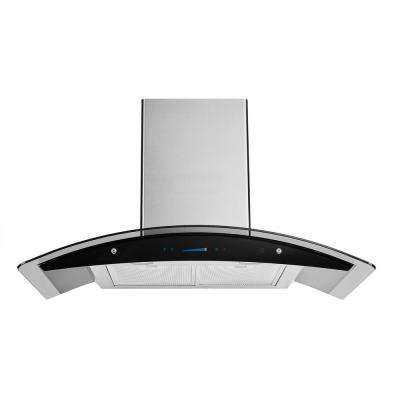 36 in. Range Hood in Stainless Steel with Tempered Glass