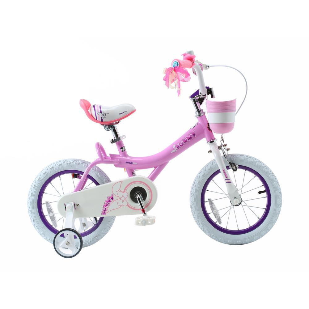 Royalbaby Bunny Girl's Bike, 12 Inch Wheels With Basket