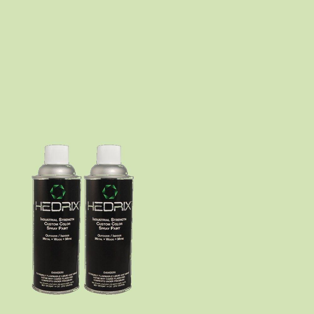 Hedrix 11 oz. Match of 440C-3 Rockwood Jade Semi-Gloss Custom Spray Paint (2-Pack)