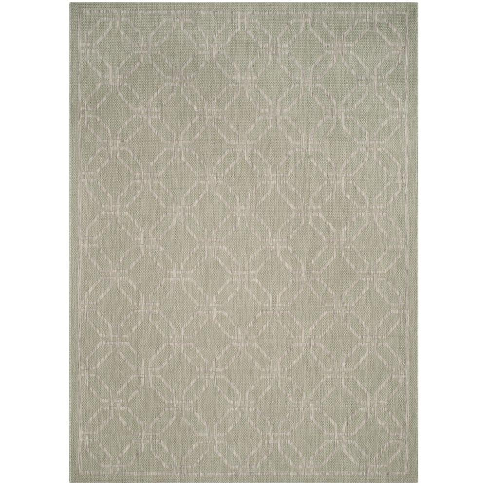 Safavieh Courtyard Green/Gray 8 ft. x 11 ft. Indoor/Outdoor Area Rug ...