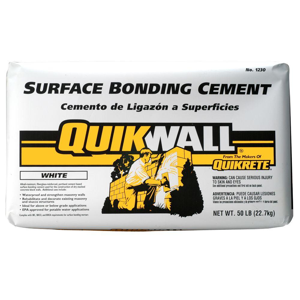 Quikrete Quikwall 50 lb. White Surface-Bonding Cement