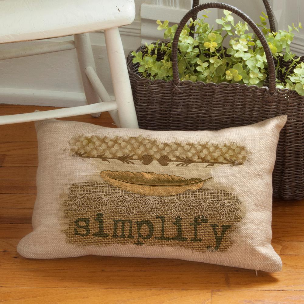 Nest Natural Simplify Decorative Pillow