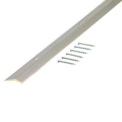 Polished 1-3/8 in. x 96 in. Smooth Carpet Trim with Screw Nails