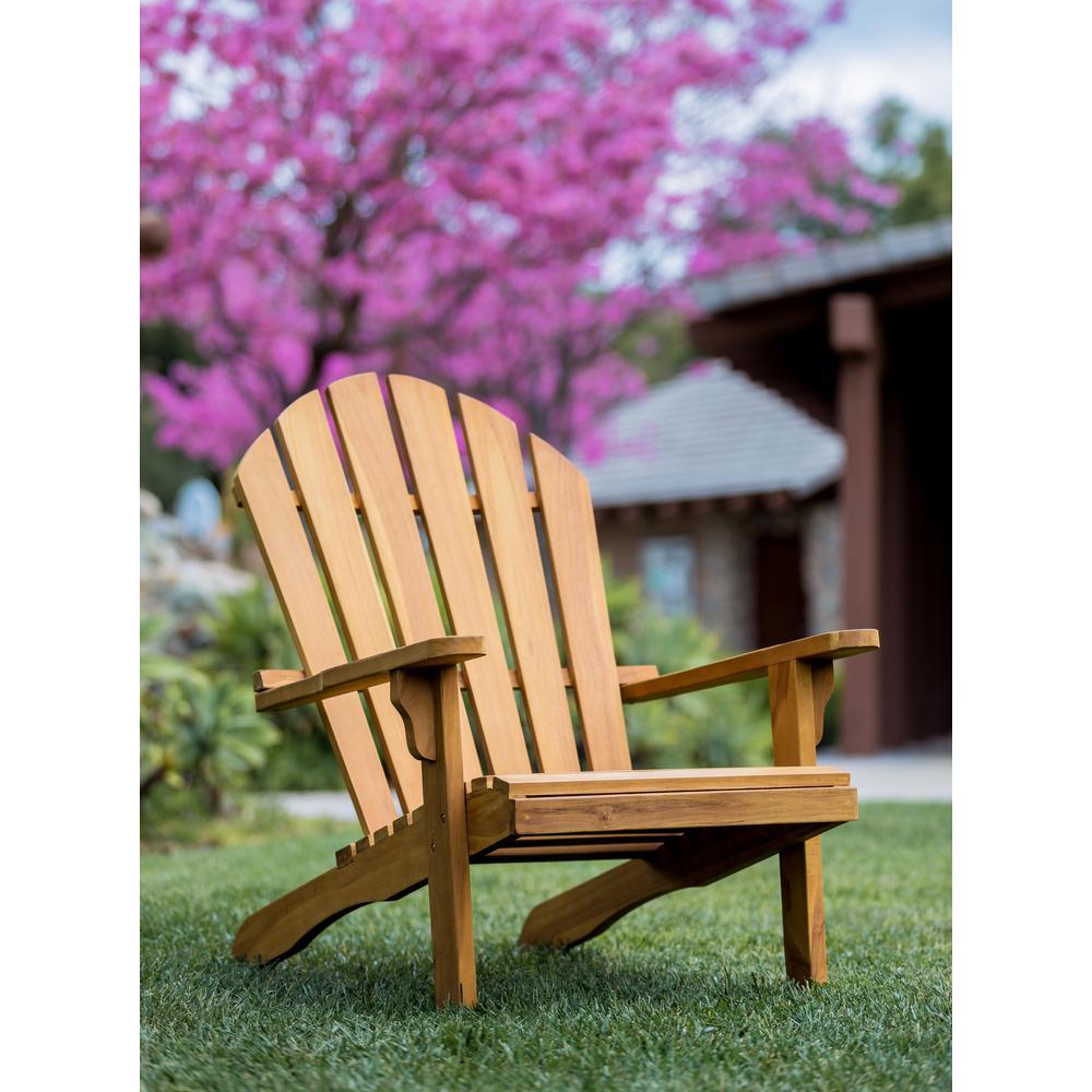 LuXeo Redondo Teak Wood Adirondack Chair