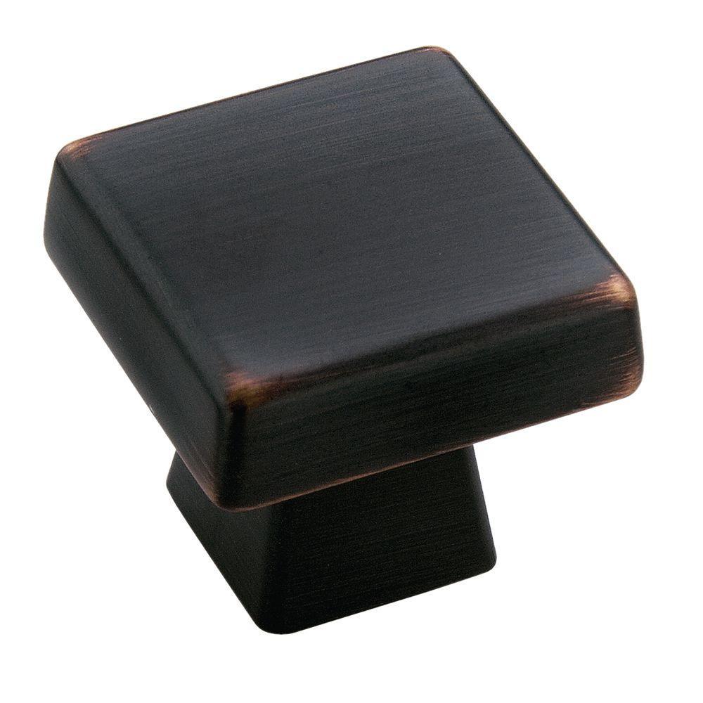 Blackrock 1 in. Oil Rubbed Bronze Square Cabinet Knob