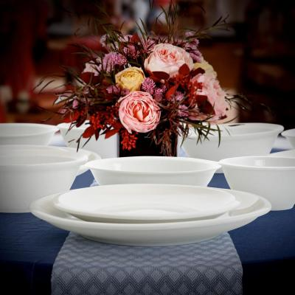 Premier 30-Piece Casual White Ceramic Dinnerware Set (Service for 6)