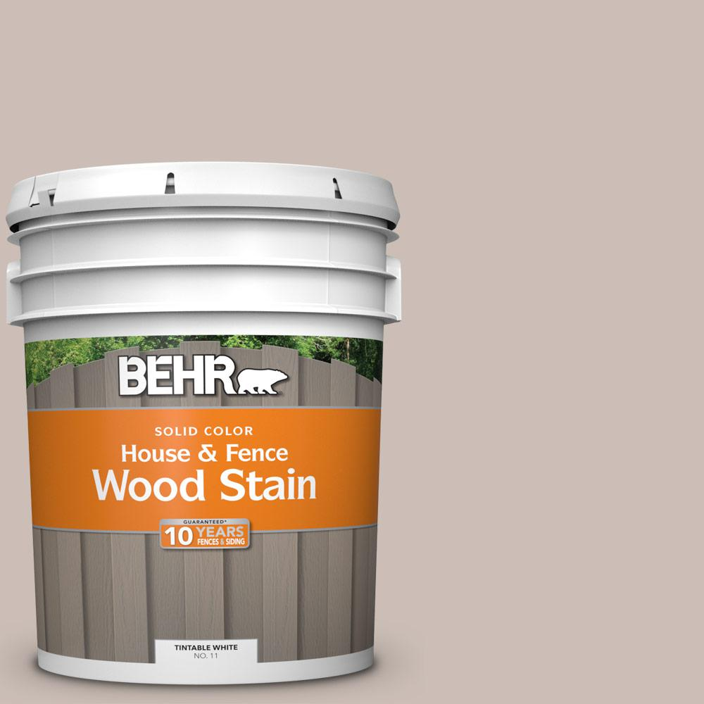 BEHR 5 gal  #N180-3 Race Track Solid Color House and Fence Exterior Wood  Stain