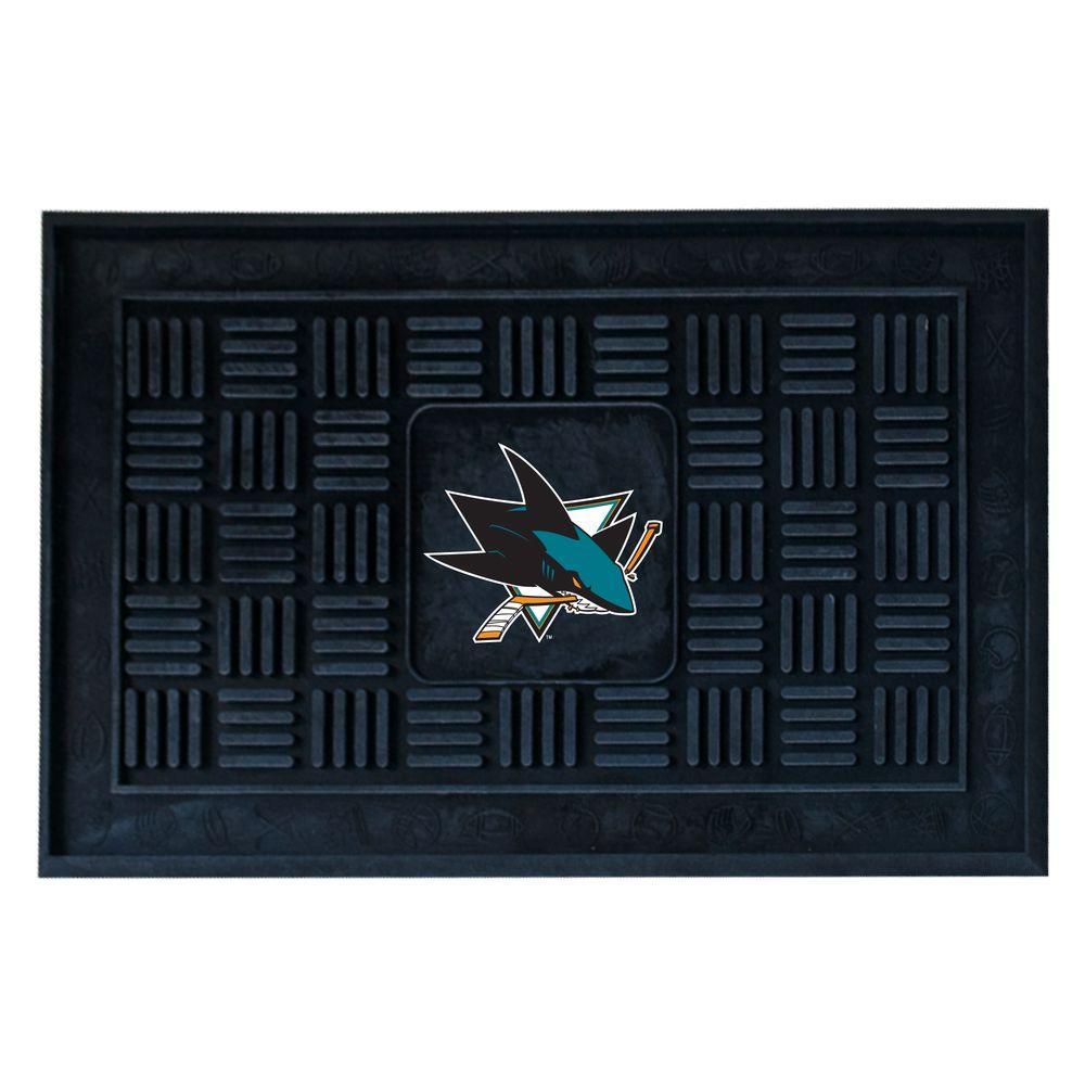 FANMATS San Jose Sharks 18 inch x 30 inch Door Mat by FANMATS