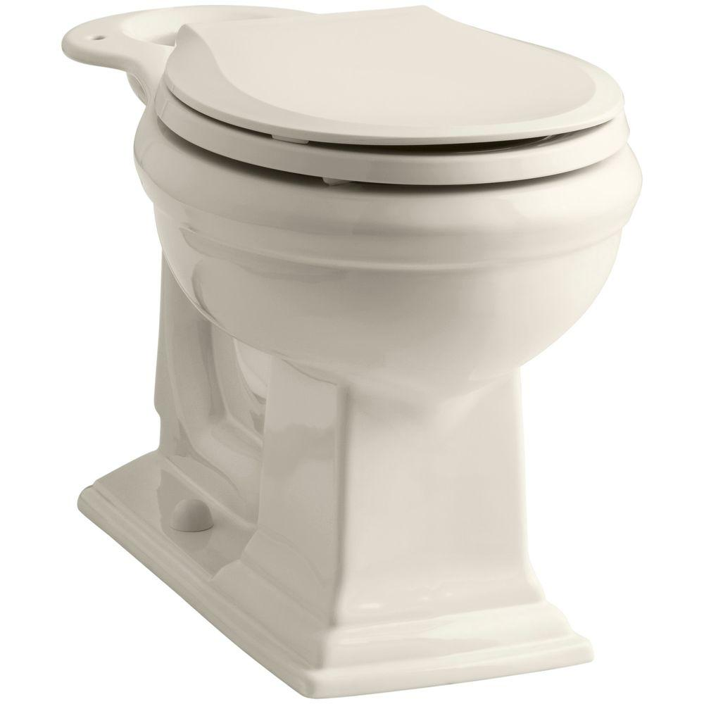 KOHLER Memoirs Comfort Height Round Front Toilet Bowl Only in Biscuit