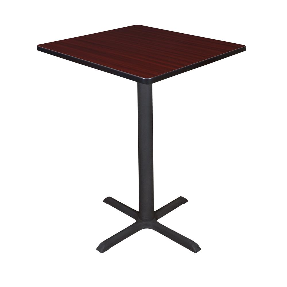 Regency Cain Mahogany (Brown) 30 in. Square Cafe Table