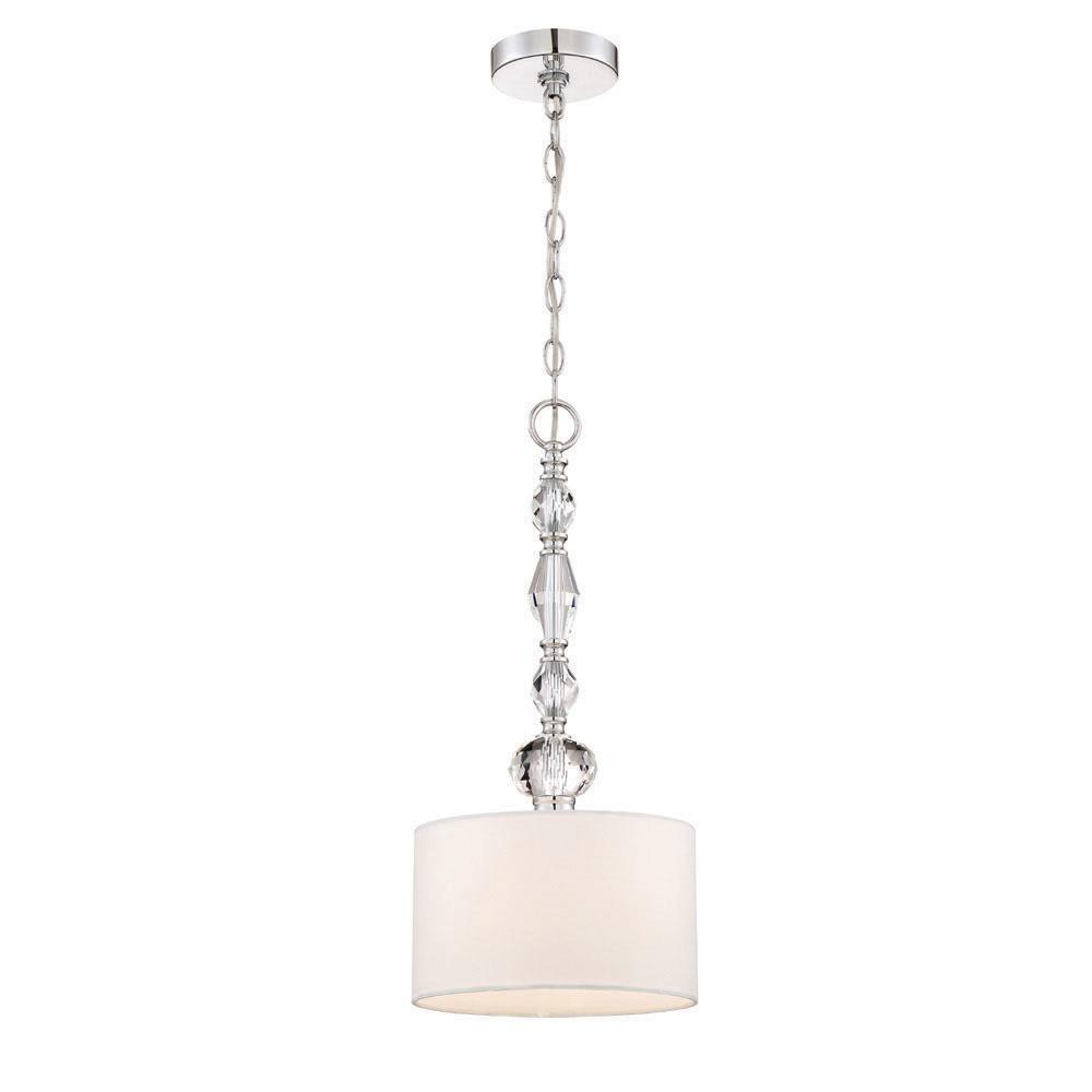 Designers Fountain Evi 1 Light Chrome Mini Pendant