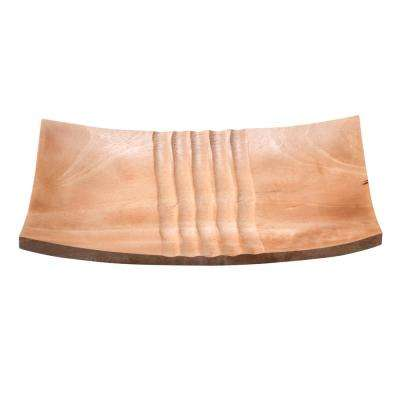 11 in. x 7 in. Natural Handmade Decorative Mango Wood Serving Tray