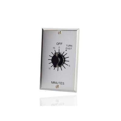 In-Wall Spring Wound 15-Minute Indoor Commercial Grade Mechanical Interval Timer Switch