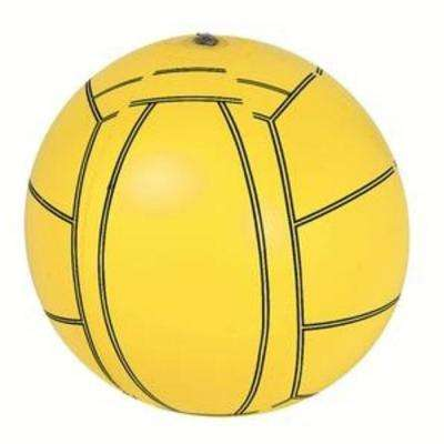 16 in. Yellow and Black 6-Panel Inflatable Beach Volley Ball