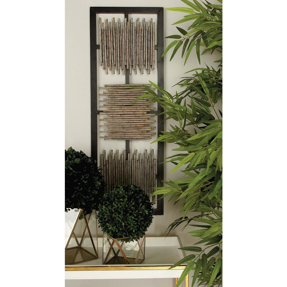 Modern MDF Wall Panel With Abstract Bamboo Stick Art