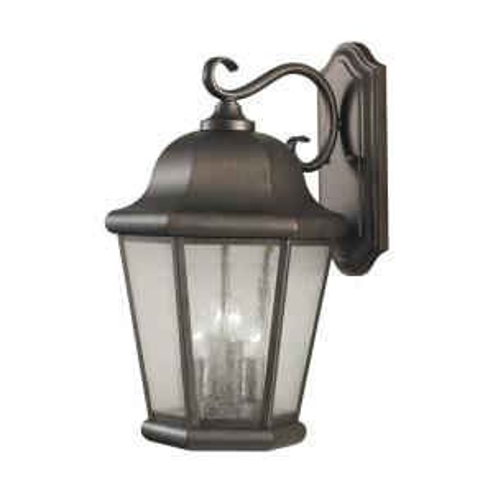 Martinsville 4-Light Corinthian Bronze Outdoor Wall Lantern