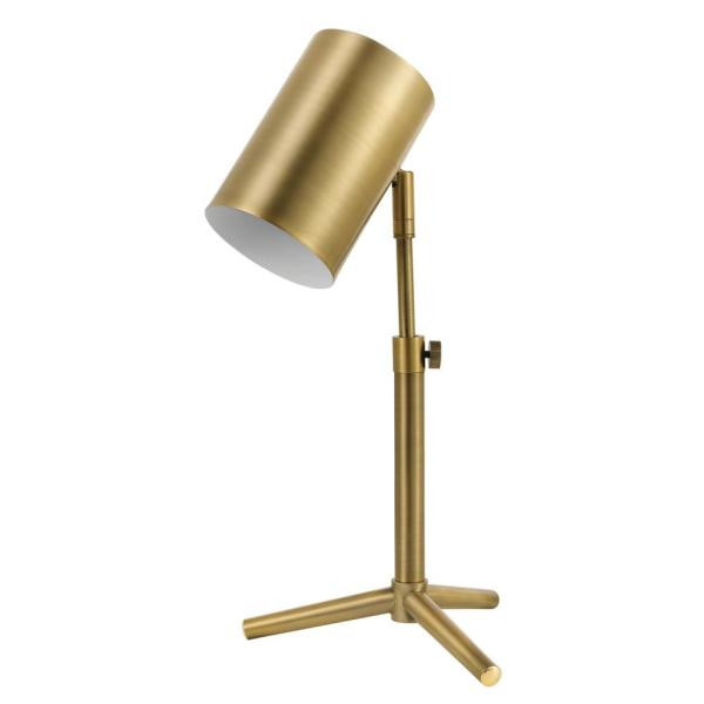 Pratt 18 in. Matte Brass Desk Lamp