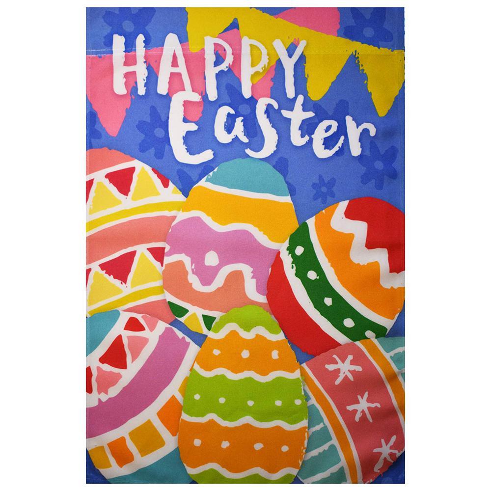 1 ft. x 1-1/2 ft. Happy Easter Eggs Garden Decoration Flag