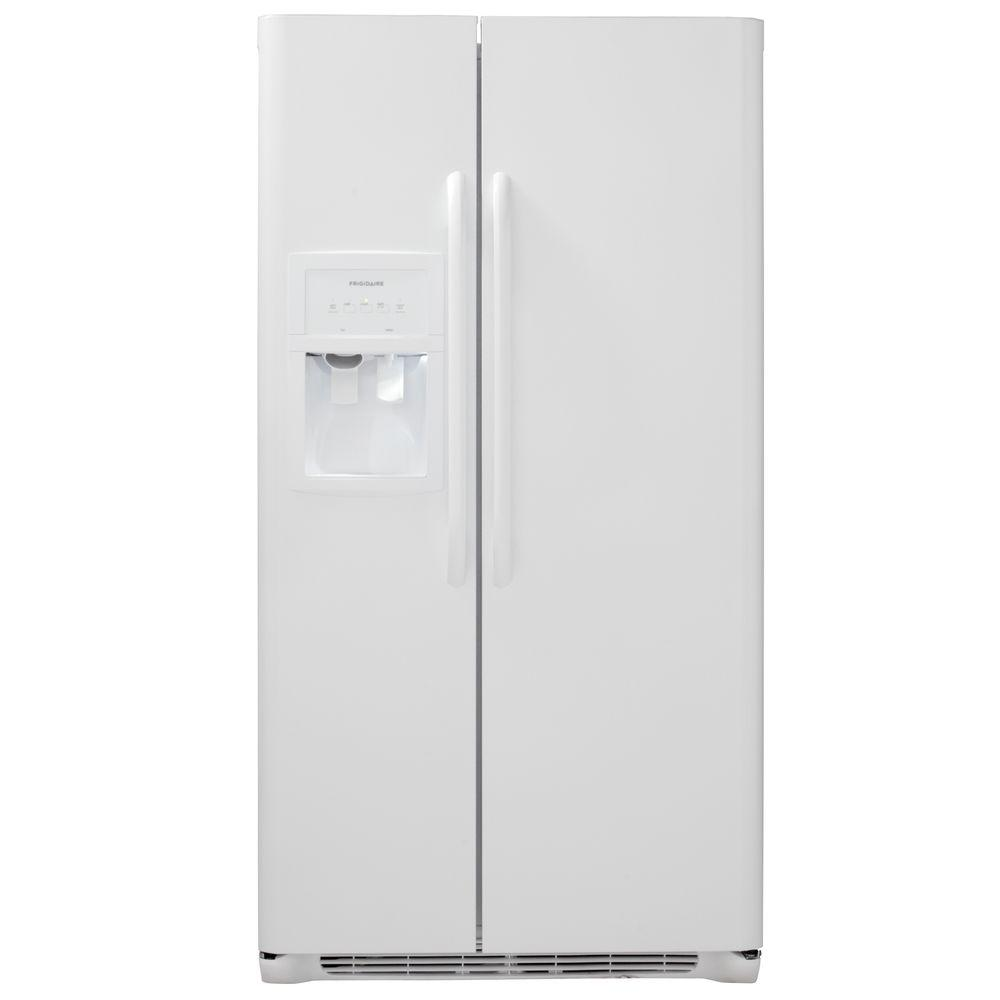 Frigidaire 25.5 cu. ft. Side by Side Refrigerator in White