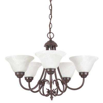 Ultra 22.25 in. 5-Light Oil Rubbed Bronze Chandelier