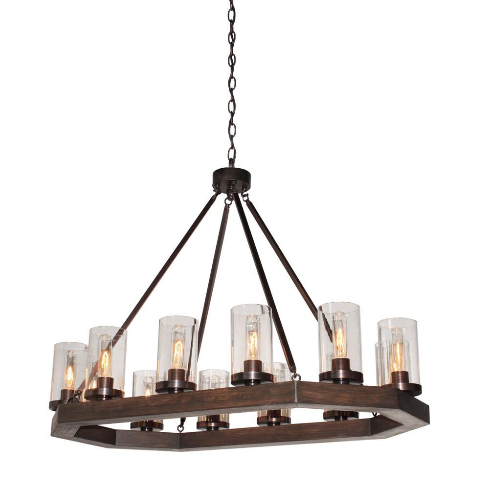 12-Light Brunito Bronze Billiard Light