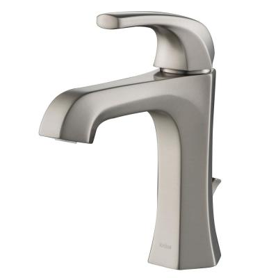 Esta Single Hole Single-Handle Basin Bathroom Faucet with Lift Rod Drain in Spot Free Stainless Steel