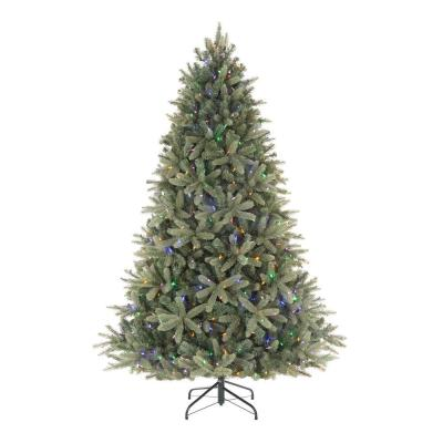 7.5 ft Asher Blue Spruce LED Pre-Lit Artificial Christmas Tree with 660 Color Changing Lights