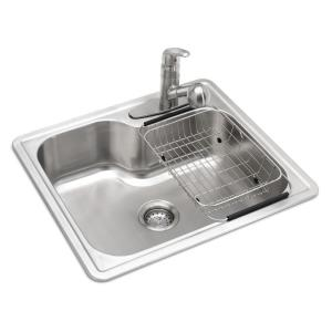 Glacier Bay All-in-One Drop-in Stainless Steel 25 inch 3-Hole Single Bowl Kitchen Sink by Glacier Bay
