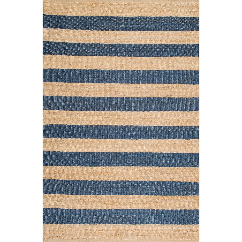 Alisia Stripes Jute Natural 4 ft. x 6 ft. Area Rug