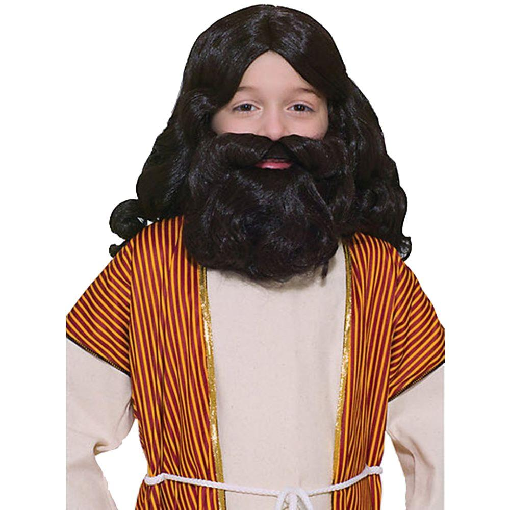 Brown Biblical Wig and Beard Children's Set, Kids Unisex,...