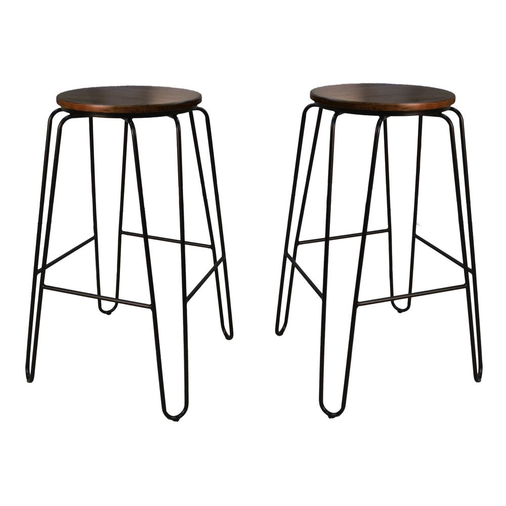 Carolina Cottage Ethan 29 In Elm Stacking Stool Set Of 2