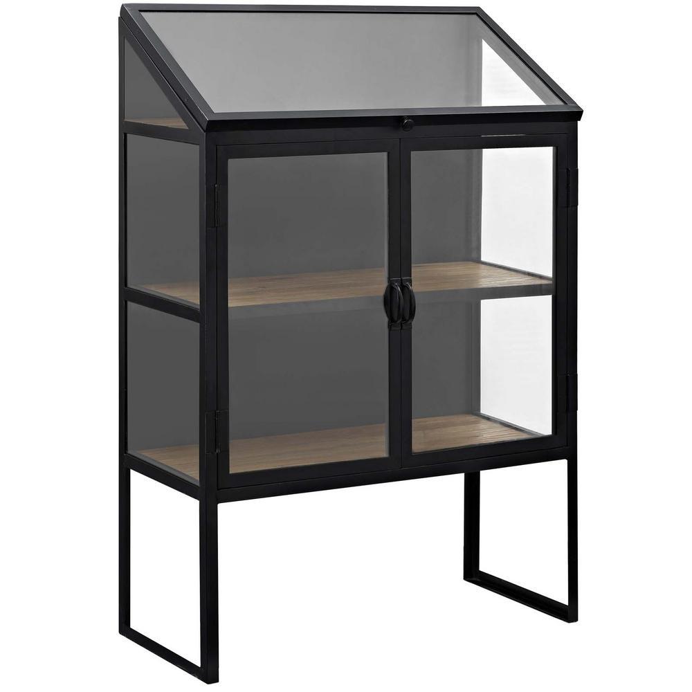 Settle Black Cabinet