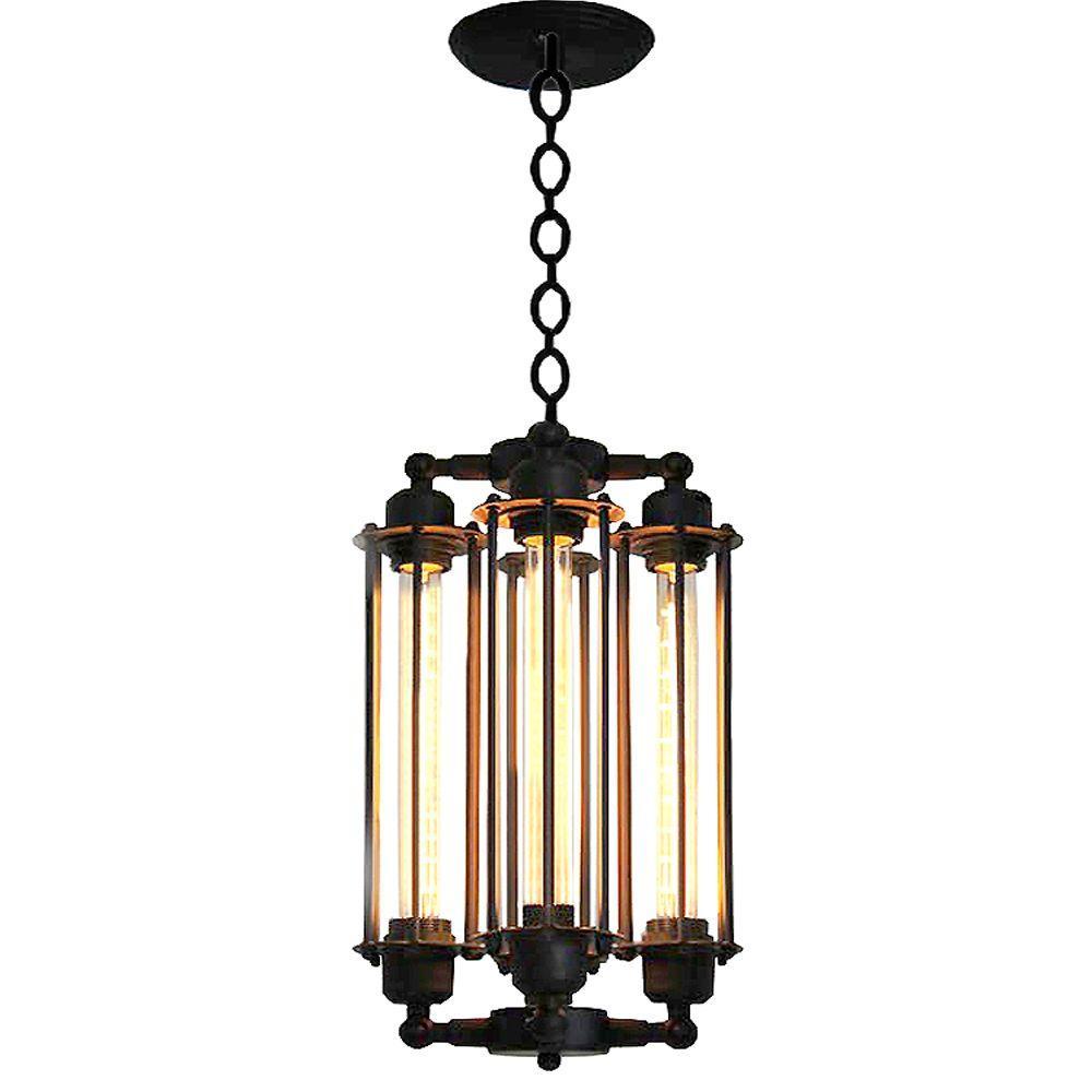 Edison Cassidy Collection 4-Light Black Indoor Chandelier
