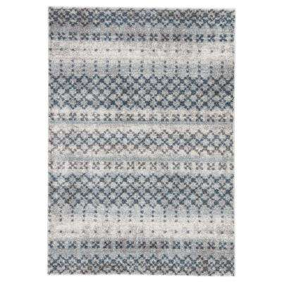 Dalton Blue 8 ft. 10 In. x 12 ft. Trellis Rectangle Rug