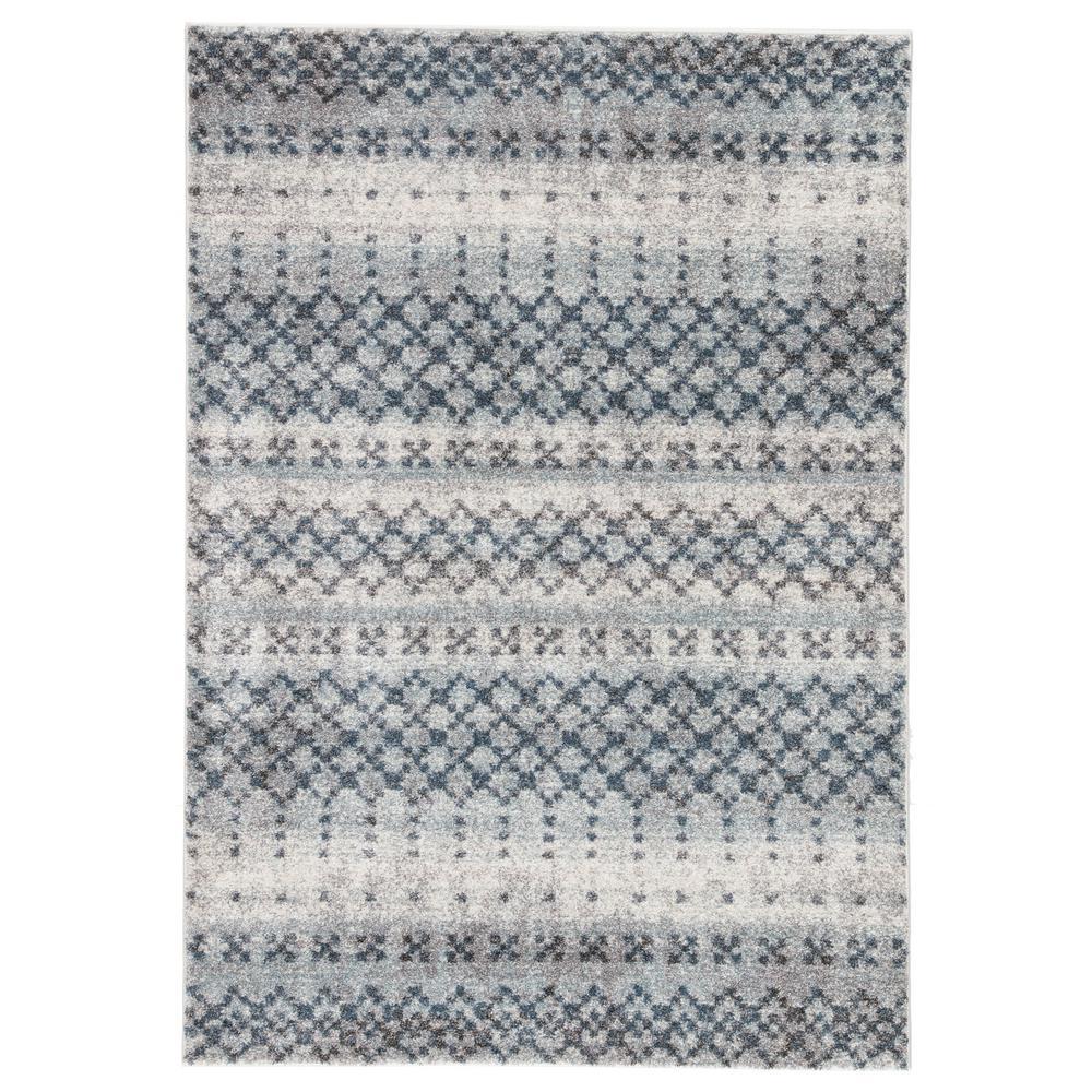 Dalton Blue 8 ft. 10 in. x 12 ft. Trellis Rectangle Rug