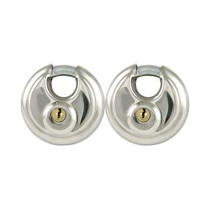 2-3/4 in. Stainless Steel Shrouded Disc Padlocks